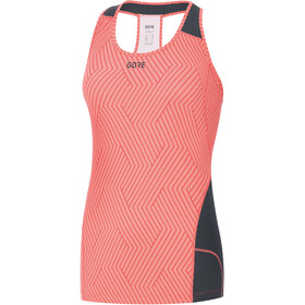 GORE WEAR R3 Optiline Sleeveless Shirt Women print lumi orange/castor grey